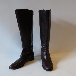 FRANCO SARTO L-SCALO LEATHER TALL ZIP-UP BOOT 8.5*